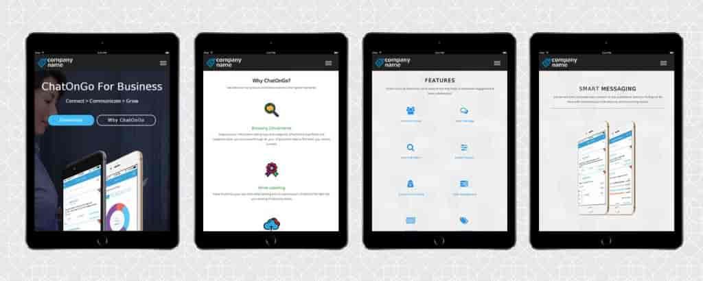 Corporate Internal Communication App-iPad