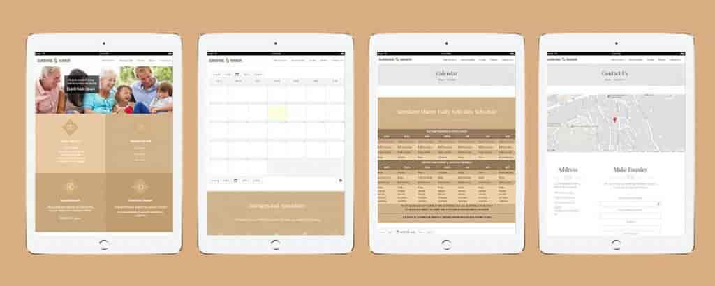 Senior Living Property Management Application-Tablet