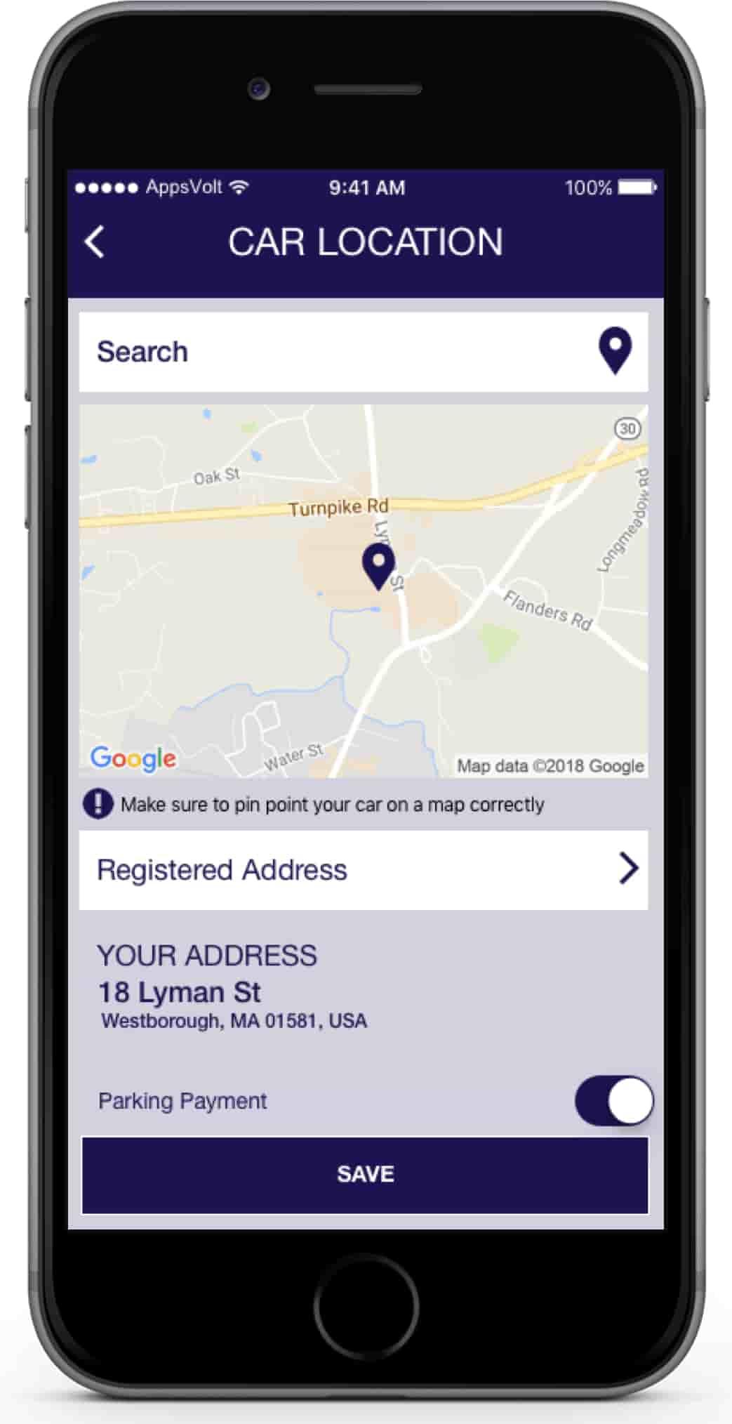Car Washing Booking iOS Application-car-location