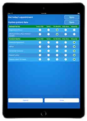 Patient Registration & Consulting iPad iOS App integrated with EMR-medical-form