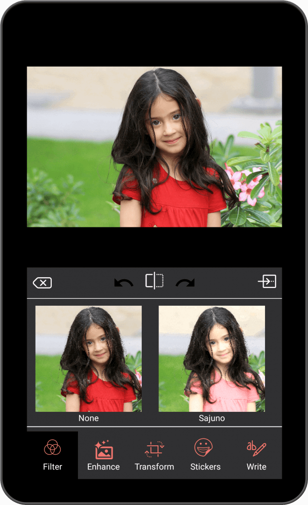 Photo Editing & Enhancing Application-android-tablet-filter