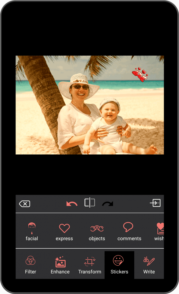 Photo Editing & Enhancing Application-android-tablet-sticker