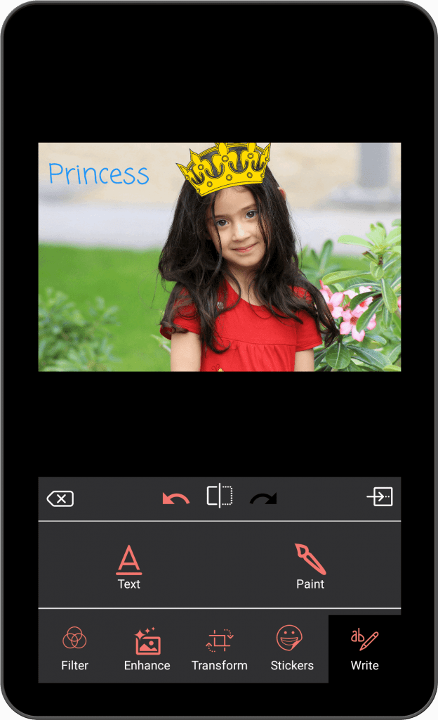 Photo Editing & Enhancing Application-android-tablet-write