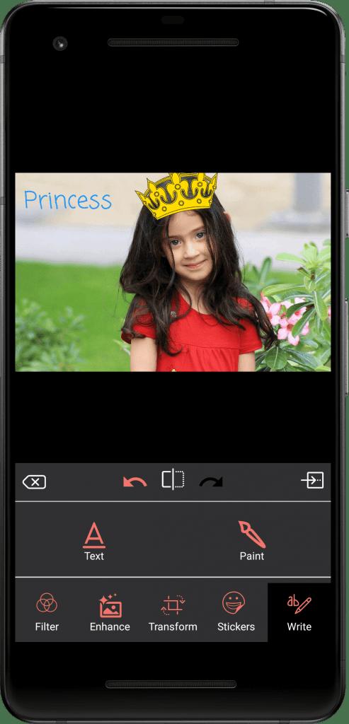 Photo Editing & Enhancing Application-android-phone-write