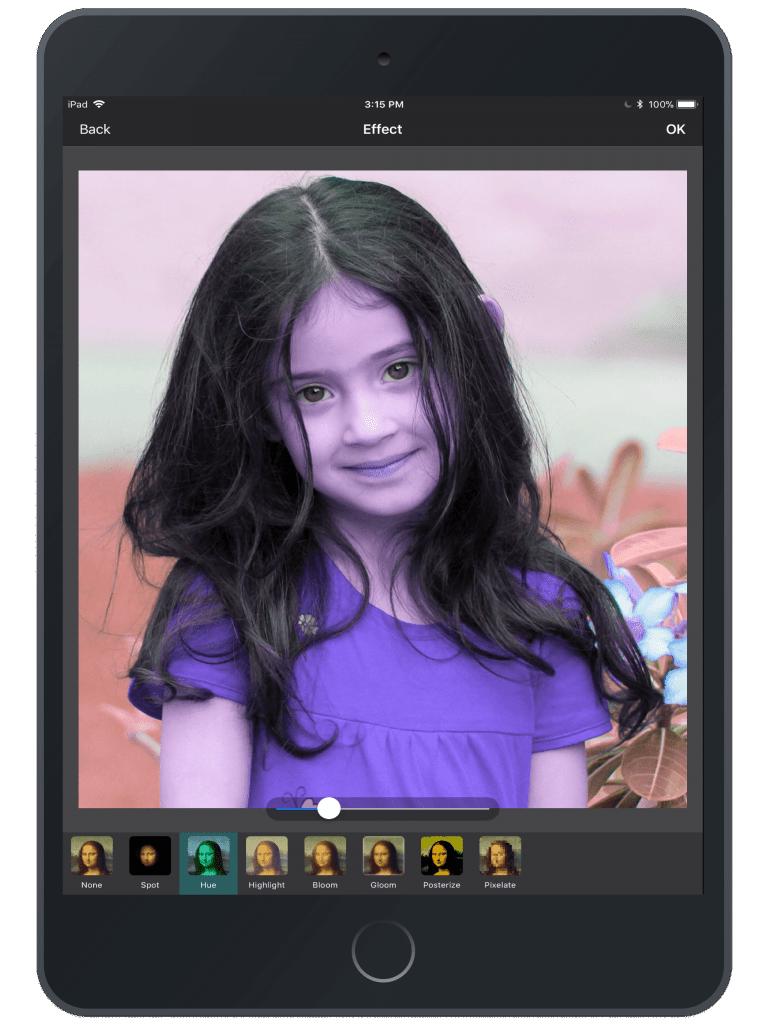 Photo Editing & Enhancing Application-iPad-effect