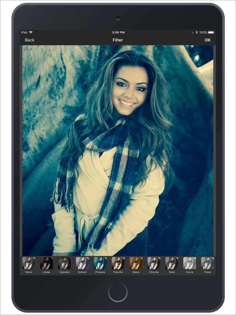 Photo Editing & Enhancing Application-iPad-filter