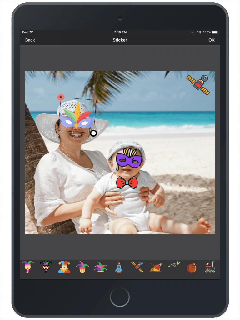 Photo Editing & Enhancing Application-iPad-sticker
