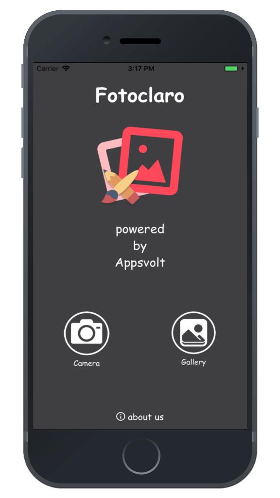 Photo Editing & Enhancing Application-iphone-splash