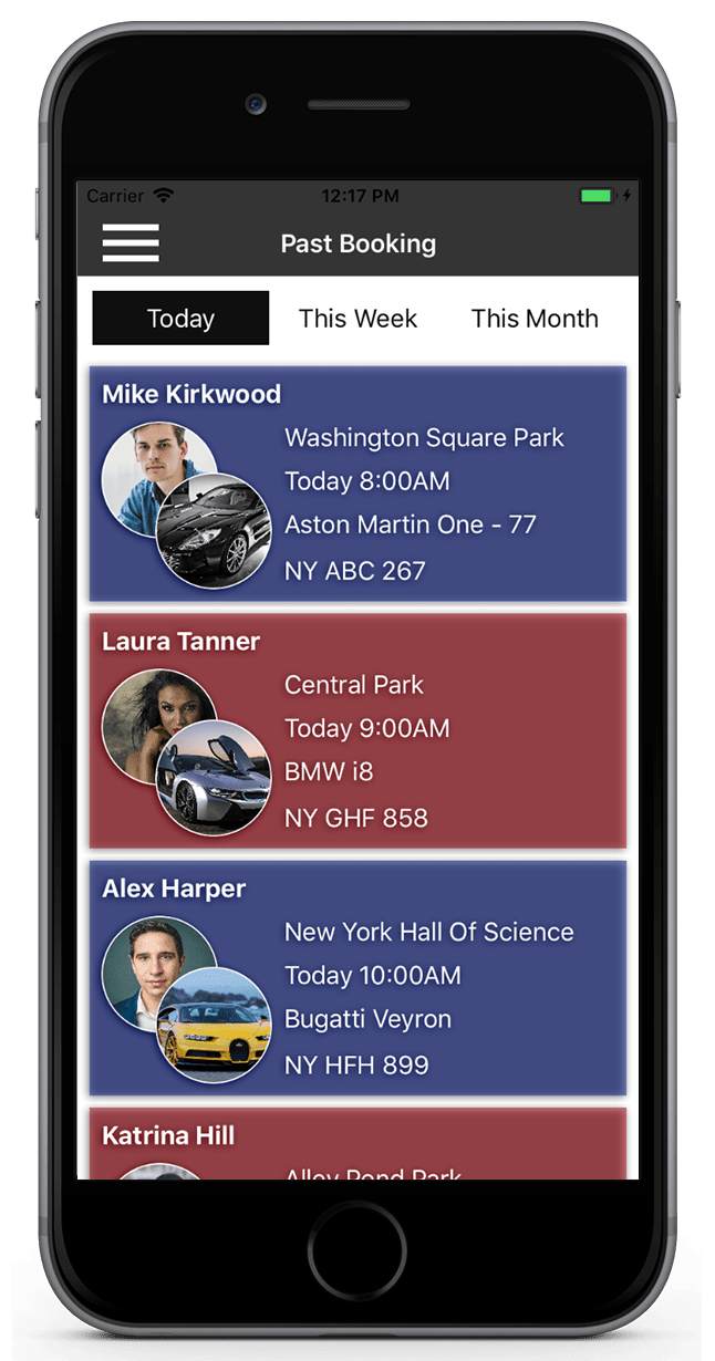 Valet-Car-Parking-iPhone-Application-past-bookings