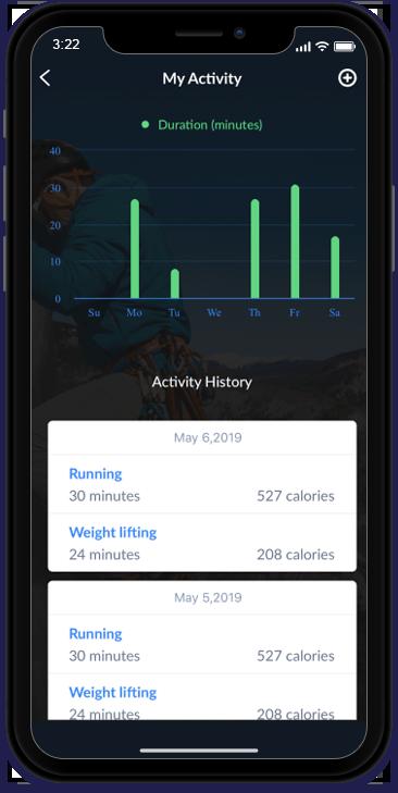 HealthTracking iOS Application_My Activity