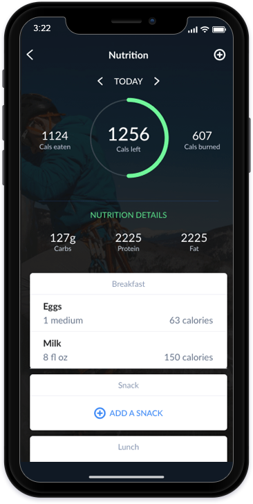HealthTracking iOS Application_Nutrition Tracking